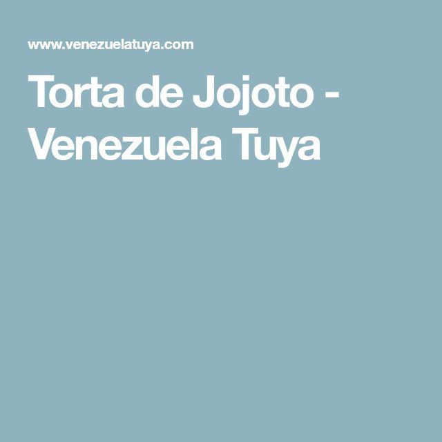 Torta de Jojoto - Venezuela Tuya