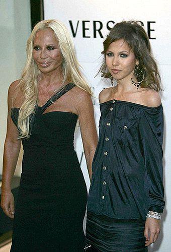 June 25, 2004: Allegra Versace inherited 50% of Versace, making her and her mother major shareholders.