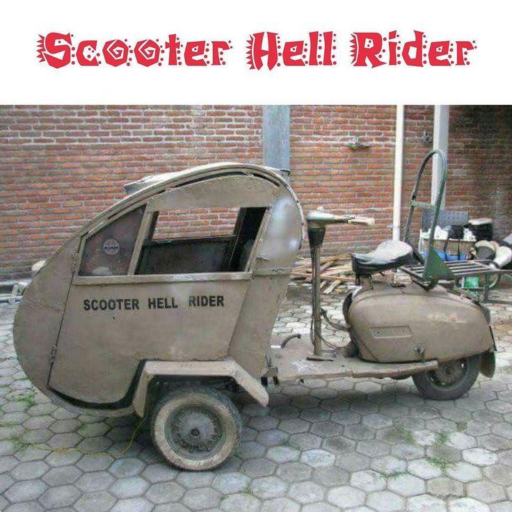 Modifications Vespa Piaggio Hell Rider