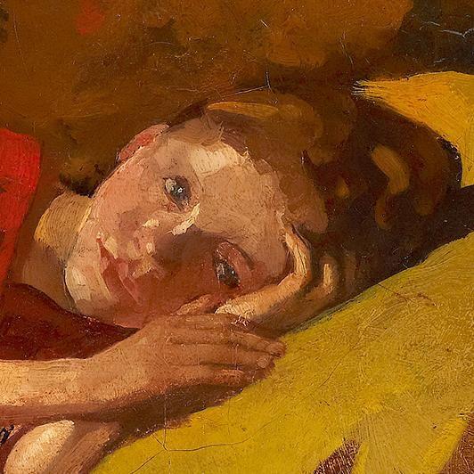 The Red Kimono (Detail) - George Hendrik Breitner 1893-95 Dutch, 1857-1923