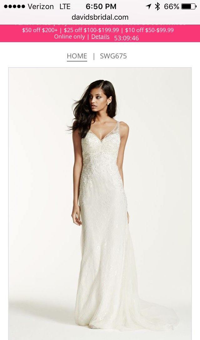 David's Bridal  Wedding Dress on Sale 58% Off