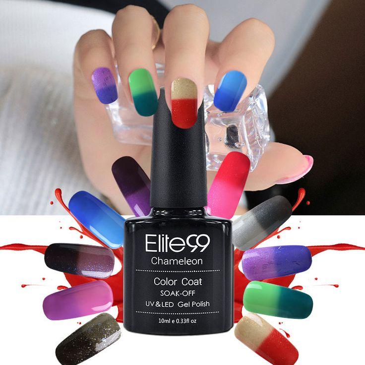 Elite99 Chameleonic Gel Nails Polish 10ml Temperature Color Change Polish Gel UV Curing Mood Changing Gel Polish Nail
