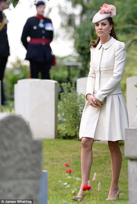 The Duchess of Cambridge attends a commemoration event at Saint Symphorien Cemetery