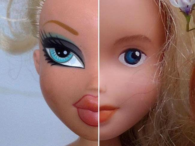 Как переделать кукол Барби и Братц, придав им человечности?