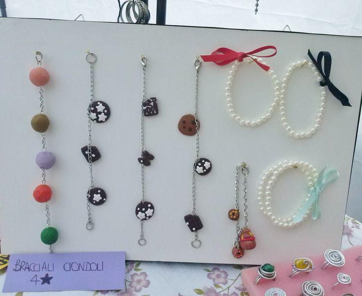 Bracciali handmade in pasta fimo e perle!! #Bracelets #pearls