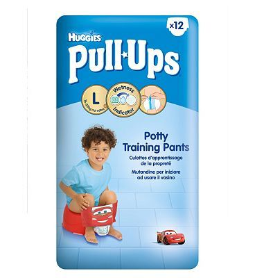 Huggies Pull-Ups Disney-Pixar Cars Boy Size 6 8 Advantage card points. Huggies Pull-Ups Boys Potty Training Pants - 1 x 12 Pants. Huggies Pull-Ups make potty training more fun and easier. FREE Delivery on orders over 45 GBP. http://www.MightGet.com/february-2017-1/huggies-pull-ups-disney-pixar-cars-boy-size-6.asp