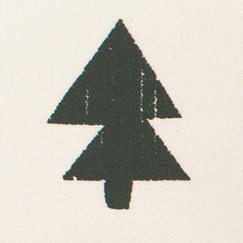 Bomuld+offwhite+m+koksgrå+træer
