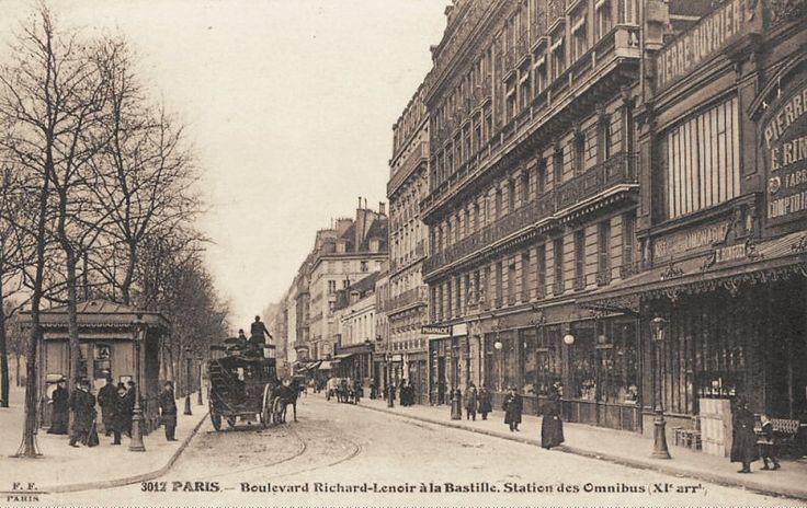 #photo La station des omnibus du bld Richard-Lenoir près de la place de la Bastille, vers 1900 #PEAV #Paris11