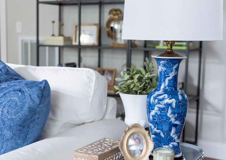 If you've looked through this blog for any length of time or follow me on social media, it's clear that I have a thing for blue and white porcelain! I'm not only talking ginger jars, all shapes and sizes are welcome in my home!   I purchased my first blue and white piece {in the picture below} over 10 years ago. Although I frequently admired blue and white porcelain, I never purchased another piece until years later. At the time I was in my 20's and in my mind blue and white p...