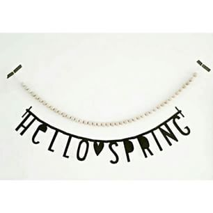 #Wordbanner #tip: Hello spring - Buy it at www.vanmariel.nl - € 11,95