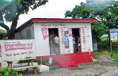 Favourite rum shop in Barbados, 'Nigel Benn Aunty Bar'. Run by, unsurprisingly, Nigel Benn's Aunty!