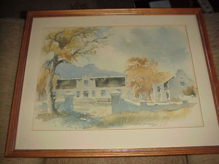 """A painting of the farm when it was still called """"Schoongezicht'"""