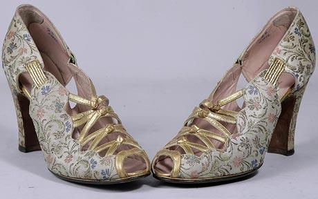 A pair of designer shoes once worn by Wallis Simpson