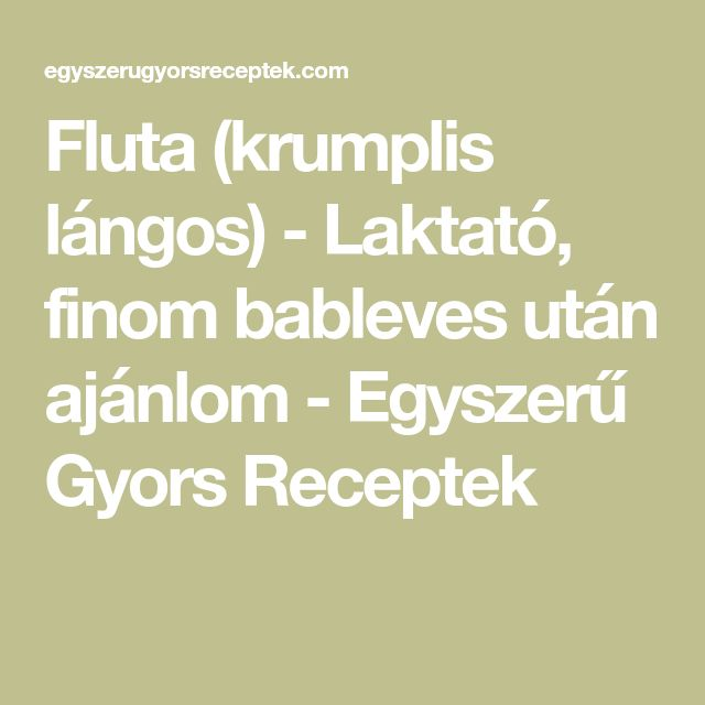 Fluta (krumplis lángos) - Laktató, finom bableves után ajánlom - Egyszerű Gyors Receptek