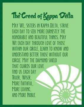 Kappa Delta creed