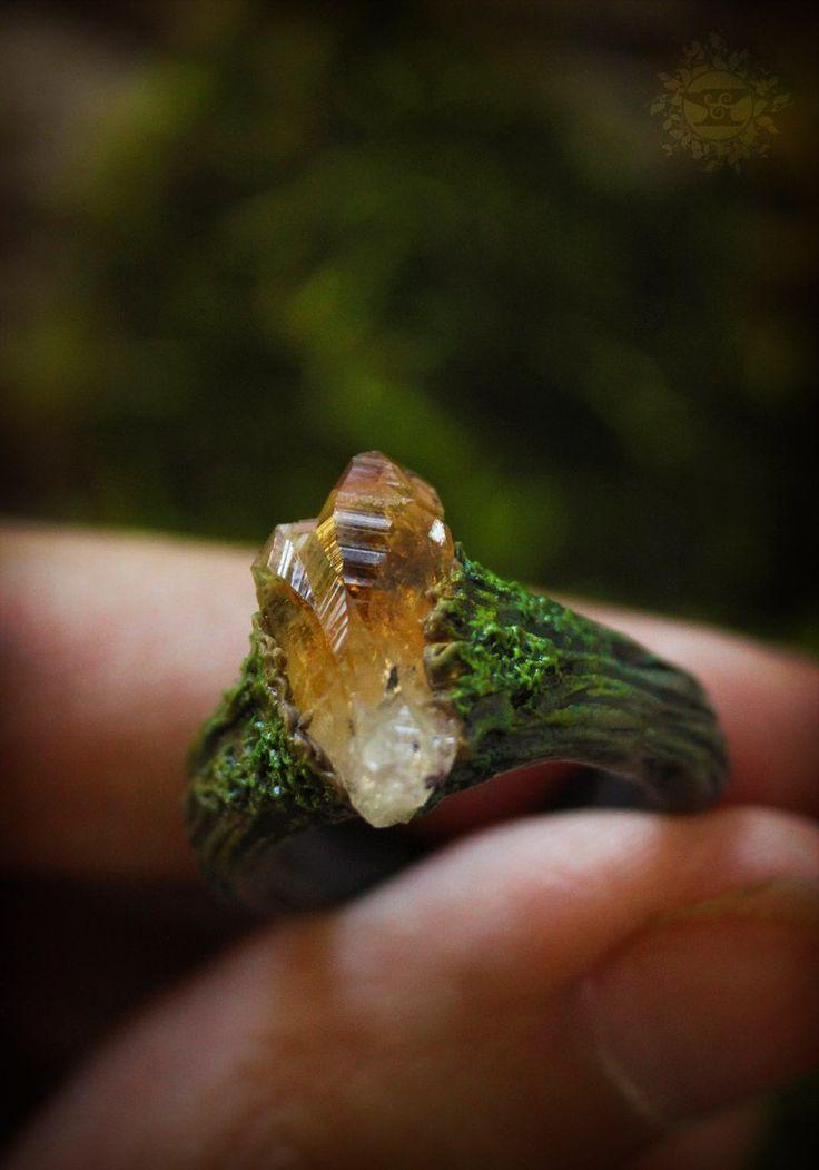 Ultra schöner ring aus fimo mit einem kleinen Cit…