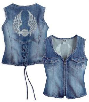 Harley-Davidson® Women's Denim Wings Vest 99124-14VW