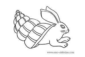 dibujos para dibujar alebrije conejo caracol
