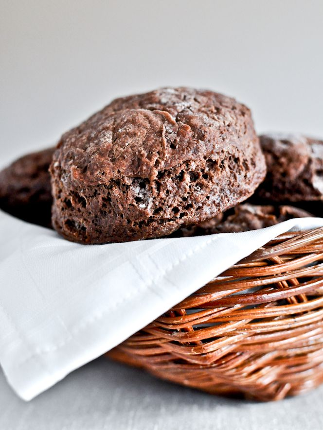 Chocolate biscuits! with brown sugar cinnamon butter! at @howsweetblog
