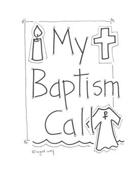 Help your students learn about the symbols of Baptism with this booklet. A page for each symbol - water, white gown, oil, and candle. Space for students to draw or write about what the symbol means.
