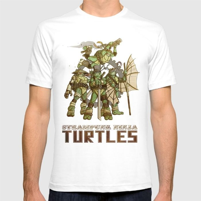 Steampunk Ninja Turtles T-shirt by WIley Illustration on society6