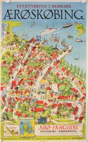 Midt på øen ligger Ærøskøbing med sine historiske gader og huse helt tilbage til 1600-tallet.