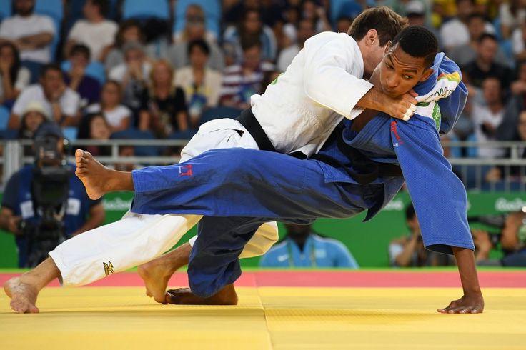 DAY 1:  Men's Judo - Pavel Petrikov of Czech Republic vs Gavin Mogopa of Botswana
