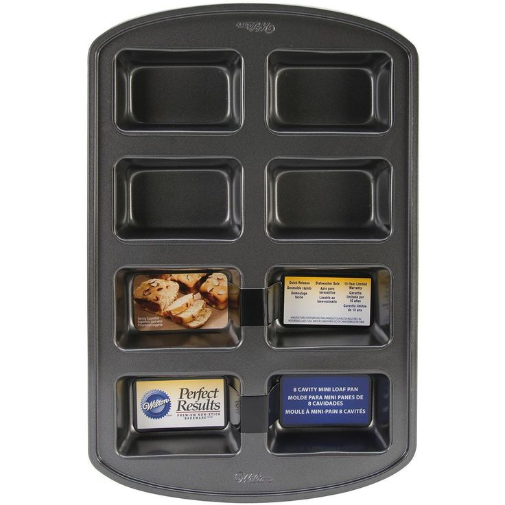 WILTON-Perfect Results Mini Loaf Pan. Bake small and delicious treats using this… Got identical brand new pan at Lansing, MI estate sale on 09/16/16 for 2.25.
