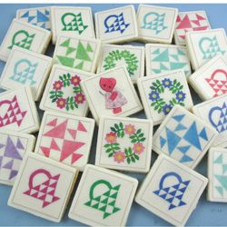 Granny Quilt Blocks Edible Wafer Papers for making quilty cookies