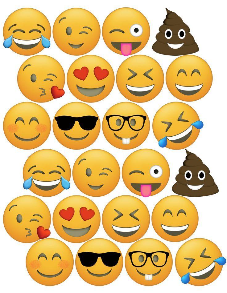 Zum ausdrucken smiley Emojis Zum
