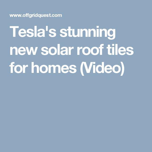 Tesla's stunning new solar roof tiles for homes (Video)
