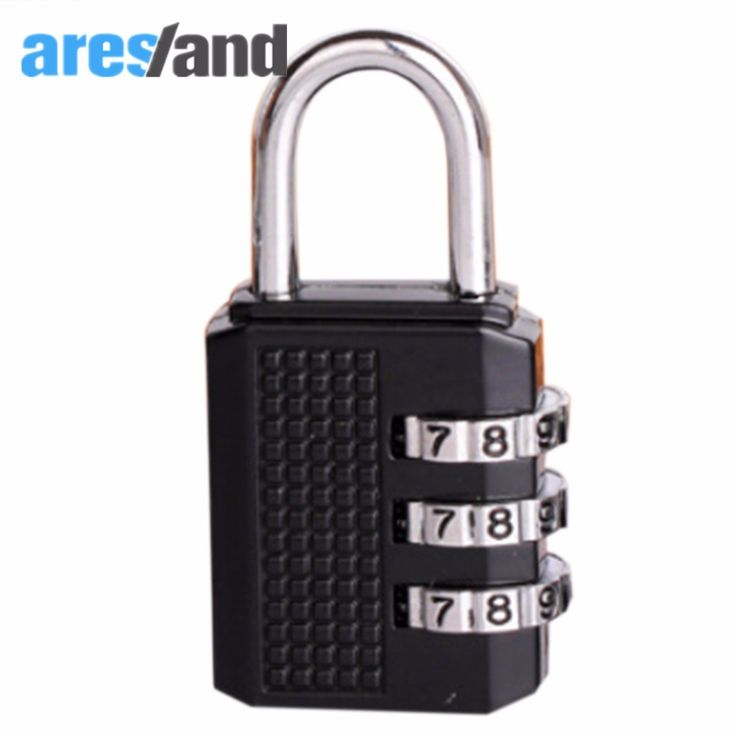 Aresland 3 Digit Coded Suitcase Lock Combination Zinc Alloy Padlocks Travel Coded Lock for Suitcases Travel Accessories - Black #Affiliate