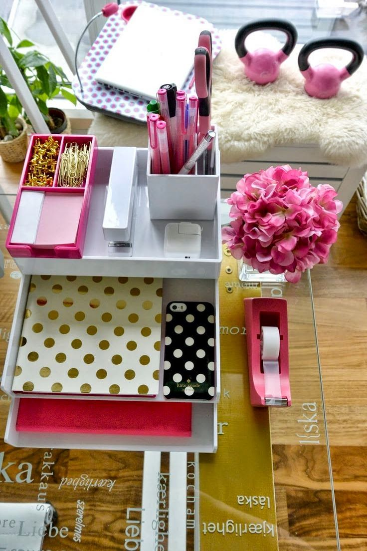 Pin do a juliana mendes em organizacao pinterest for Diy desk stuff