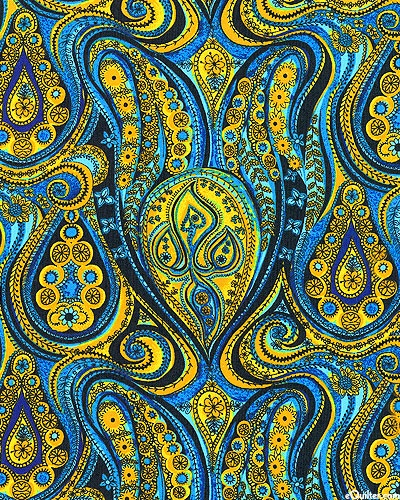 Casablanca - Floral Fluid Paisley - Honey Gold (Can never have too much paisley!)