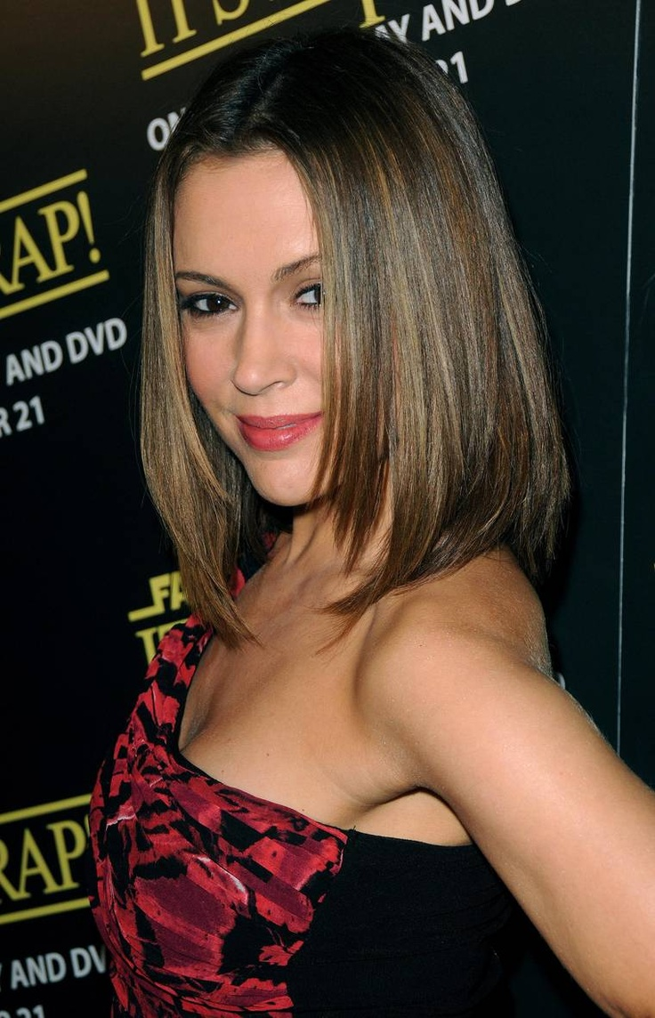 Genteel Alyssa Milano Fabulous Hairstyles By The -3127