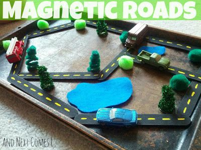 And Next Comes L: Magnetic Roads - perfect to keep kids busy on a long car ride!