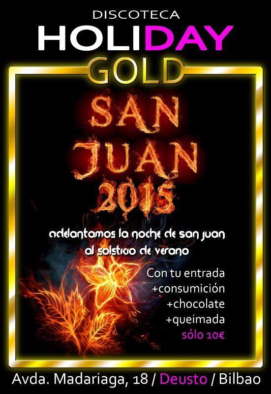 Este Sábado 20 de Junio Adelantamos en Holiday Gold la Noche de San Juan con Chocolatada y Queimada. No te lo pierdas.