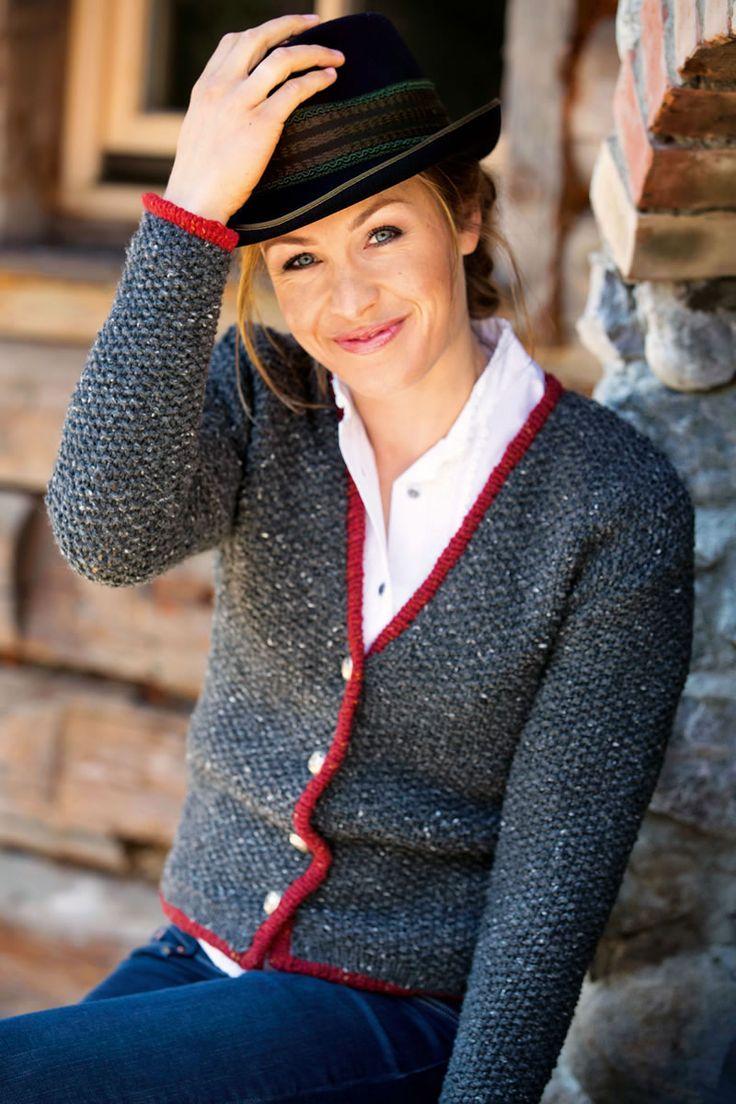 Lana Grossa DAMENJACKE IM PERLMUSTER Royal Tweed - FILATI Trachten No. 6 - Modell 5 | FILATI.cc WebShop