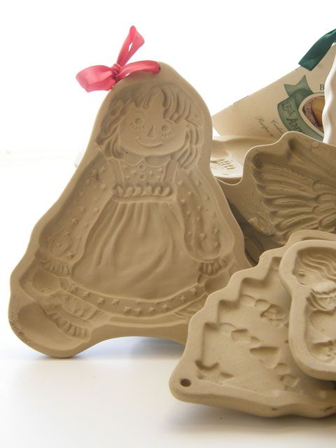 Chloe's collection of Brown Bag Cookie Molds including Girl Doll |  ChloesBlog.com  |  #beeswax  #ChristmasDecorations