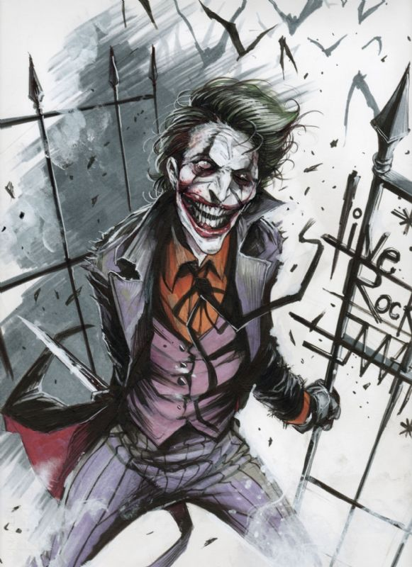 The Joker just the way I like him, at his best crazy and not caring.