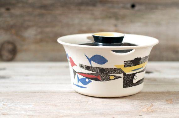 Vintage Figgjo Flint Scandinavian Mid Century Casserole Pot - Made in Norway on Etsy, $145.00
