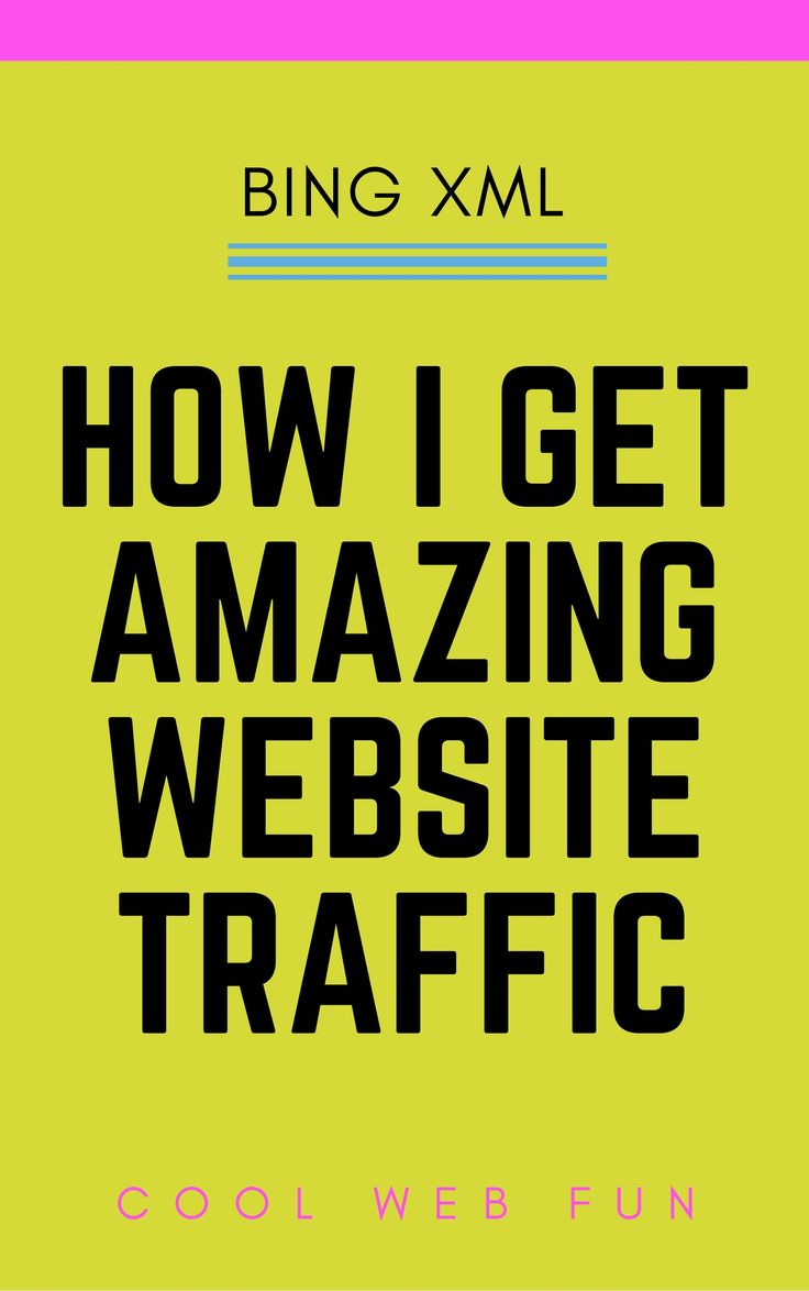 How to get website traffic? Well this may be a bit unusual that bing search engine brings tons of traffic if used correctly. Click on http://www.coolwebfun.com/bing-search-engine-submission/  to create XML sitemap to Bing and start getting website visitors now