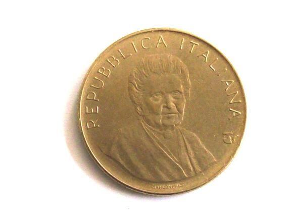 Vintage Italy 1980 Lire 200 Coin Italian Republic Commemorative