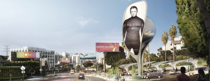 billboard designs for hollywood's sunset strip include proposals from zaha hadid + gensler
