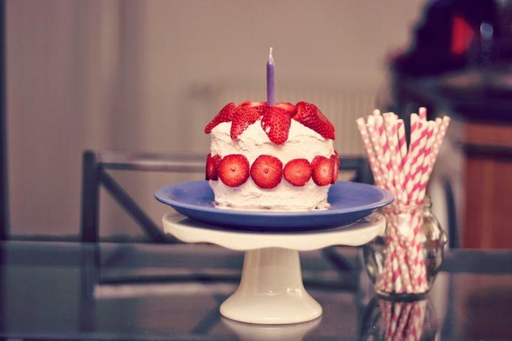 zdravý dort bez cukru k 1. narozeninám