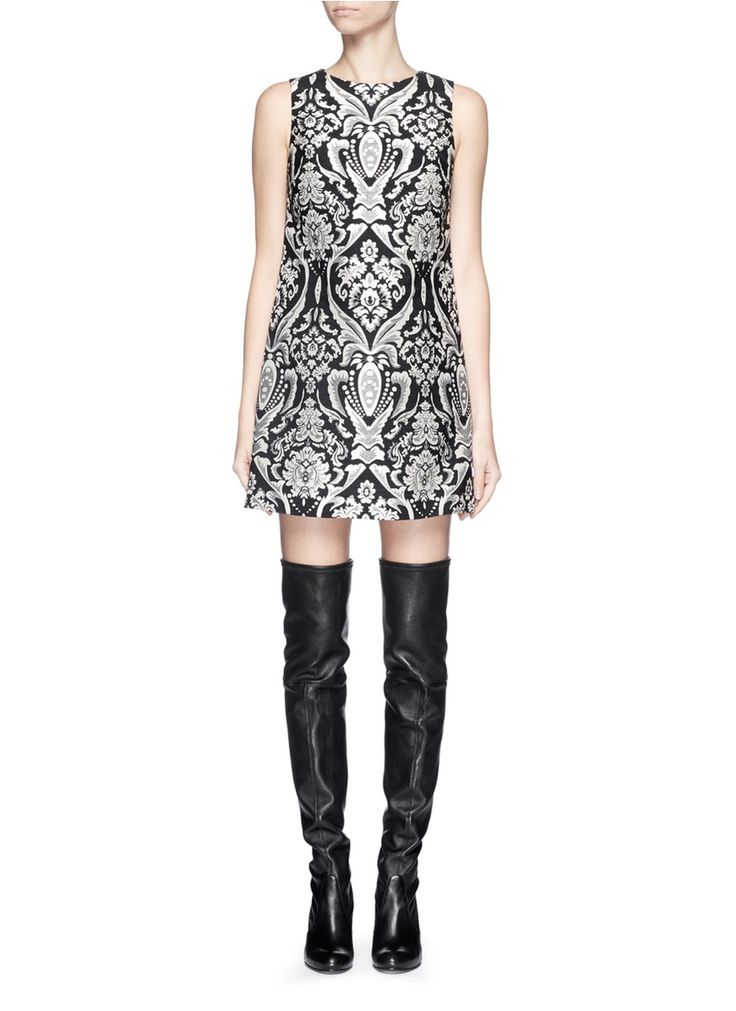 ALICE + OLIVIA - 'Clyde' damask tapestry brocade shift dress | Multi-colour Cocktail Dresses | Womenswear | Lane Crawford