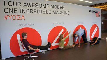 Divertite en la oficina con la YOGA y sus cuatro modos.   www.lenovo.com/ar