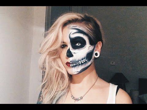 Half Skeleton Makeup Tutorial