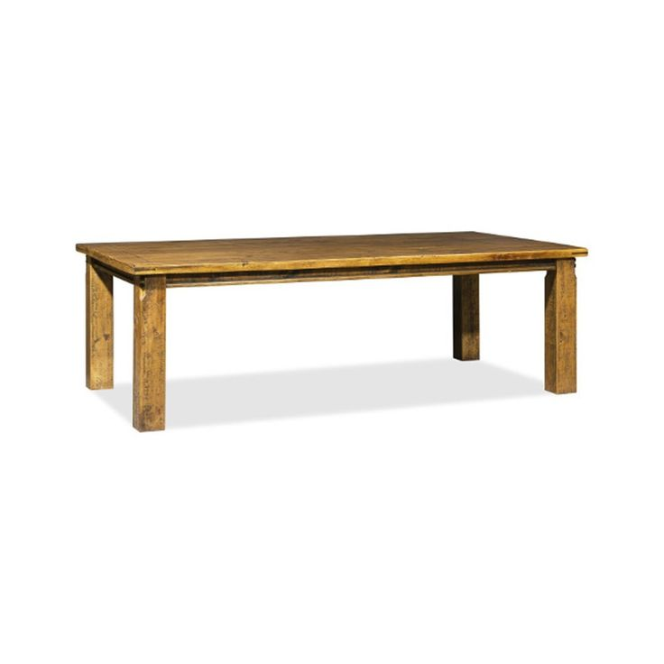 MARS    Solid Pine Timber Dining Table in  Distressed Oak Finish -  770H X  2400L X 1200W