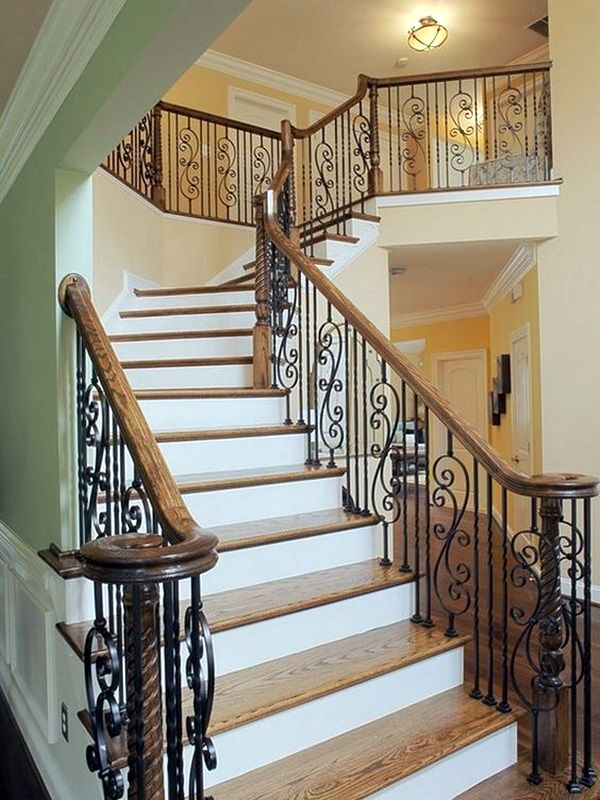 40 Amazing Grill Designs For Stairs Balcony And Windows Bored Art Traditional Staircase Stairs Design Balcony Grill Design